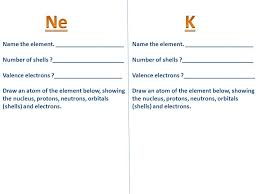 Periodic Table Study Guide Determining Shells and Valence ...