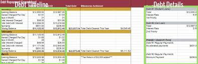 Debt Repayment Spreadsheet 5 My Alternate Life