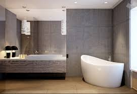 Brown Tiles Bathroom Incredible Concrete Grey Bathroom Wall Round White Bathtub Tile