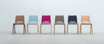 contemporary visitor chair  wooden  stackable  forum  by arge