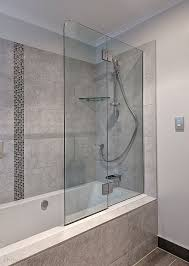 frosted glass bath panels. frameless glass bath screen - folding frosted panels s