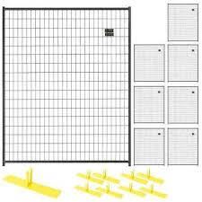 wire fence panels home depot. 8-Panel Black Powder-Coated Welded Wire Fence Panels Home Depot T
