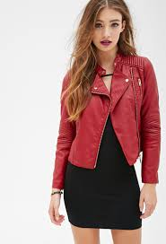 Quilted Faux Leather Moto Jacket   FOREVER21 - 2000099420 ... & Quilted Faux Leather Moto Jacket   FOREVER21 - 2000099420 Adamdwight.com