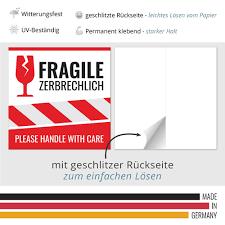Vorsicht zerbrechlich zum ausdrucken dhl : 10 250 Aufkleber Vorsicht Glas Achtung Zerbrechlich Fragile Warnetiketten Gross Ebay