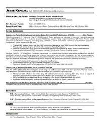Gallery Of Pilot Entry Level Resume Pilot Resume Template 6 Ways