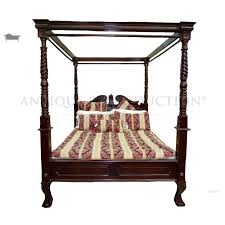 The Best Of Antique Four Poster Bed 4 Queen Size Chippendale ...