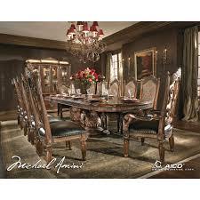 Michael Amini 8pc Villa Valencia Rectangular Dining Room Table Set W/ China  Cabinet In [