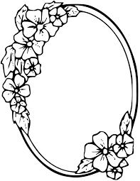 oval frame tattoo design. Floral Oval Frame Clipart Tattoo Design I