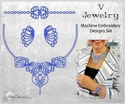 Machine Embroidery Jewelry Designs V Jewelry Embroidery Tatting Fsl Set Products Swak