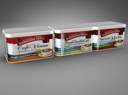 Tins general foods international coffee 25th anniversary collector, set of 3. General Foods International Coffees 3d 3ds