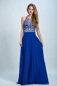 Custom Made Royal Blue Prom Evening Dress Luscious Long Evening