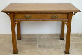 an oak arts and crafts hall table