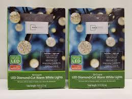 Mainstays Warm White Led Lights Mainstays 50 Count Led Diamond Cut Warm White Lights Qty 2