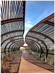 Steel Walkway Design Bamboo Steel Bridge Timber In Buildings Architecture