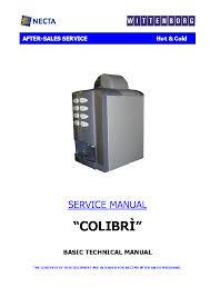 Necta Vending Machine Manual Fascinating NW GLOBAL VENDING NECTA WITTENBORG COLIBRI SERVICE MANUAL Service