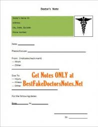How To Forge A Doctor S Note The Legal Problems With A Fake Doctors Note