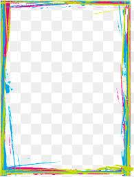 colorful frame border design. Fine Frame Vector Color Inkjet Border Border Picture Material Aquarene Color PNG  And Vector For Colorful Frame Design M