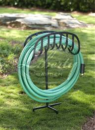 liberty garden decorative hose reel the 3 g model decorative hose stand keeps your hose neatly