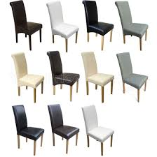 quality faux leather dining room chairs brown black grey cream ivory white oak ebay