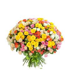№205 75 mix color spray <b>roses flower bouquet</b> купить с доставкой ...