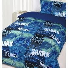 Glow In The Dark Single Bed Danger Shark Quilt Cover Set   Crazy Sales & Glow In The Dark Single Bed Danger Shark Quilt Cover Set Adamdwight.com