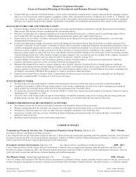 Financial Representative Sample Resume