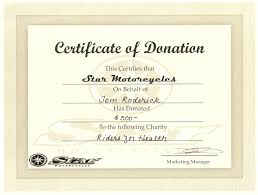 Donation Certificate Template Word Under Fontanacountryinn Com