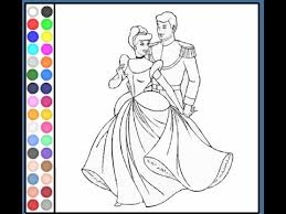 Cinderella Coloring Pages For Kids Cinderella Coloring Pages Youtube