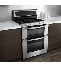 double oven gas range. Whirlpool WGG555S0BS 6.0 Total Cu. Ft. Double Oven Gas Range With AccuBake System N