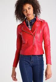 yas yasayo leather jacket racing red women jackets yas leather shorts save up to 80