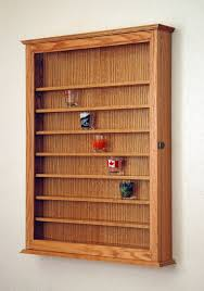 awesome ideas shot glass display shelves brilliant design 72 oak case cabinet