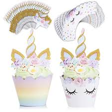 Unicorn Cake Topper And Cupcake Toppers Wrappers 24 Unicorn