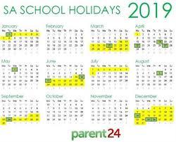 Calendar 2019 Printable With Holidays Print It Sas School Holidays 2019 Calendar Parent24