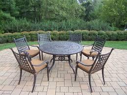 7 Piece Patio Dining Set Round Table