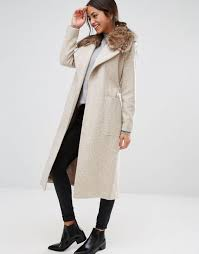 new look faux fur belted maxi coat oatmeal women coats new look flat sandals fashionable design
