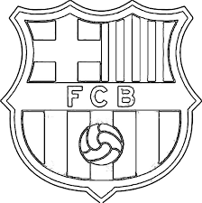 Small Picture Football Coloring Pages To Print Barcelona Logo Coloring Pages