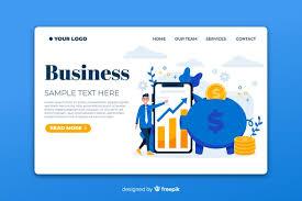 Шаблон бизнес-страницы | Бесплатно векторы