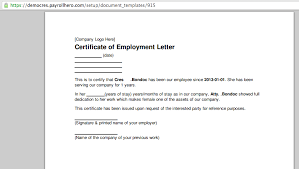 Can Payrollhero Generate A Certificate Of Employment Payrollhero