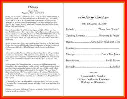 Funeral Programs Samples Custom Funeral Obituary Programs Apa Example
