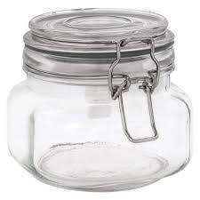 small clear glass solar jar