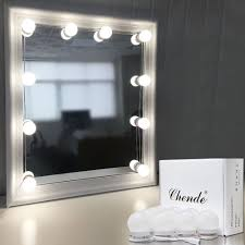 image top vanity lighting. Chende Hollywood Style LED Vanity Mirror Lights Kit With Dimmable Light Bulbs, Lighting Fixture Strip For Makeup Table Set In Dressing Room (Mirror Image Top