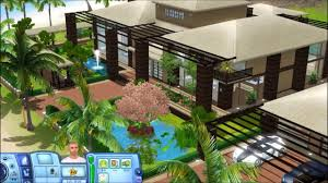 Sims 3 Tropical House With Plans Youtube Caribbean Maxresde Momchuri