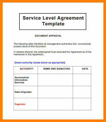 help desk service level agreement template 4 sla examples awards templates