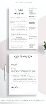 Clean Resume Template Examples In Word Format Cook Sample Templates ...