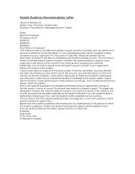 academic recommendation letter sample recommendation letter  academic recommendation letter sample
