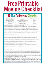Tips For Moving Plus A Free Printable Moving Checklist