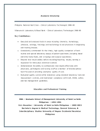 Medical Technologist Resume Medical Technologist Resume Examples Lab