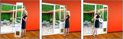 sliding door with dog door automatic door patio door doggy door best of power pet automatic