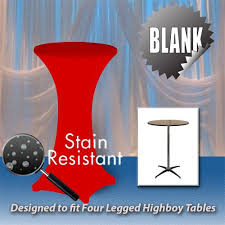 30 x 42 spandex table cover round base