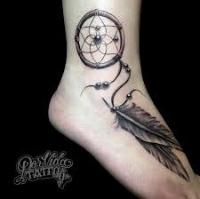 Dream Catcher Tattoo Foot Interesting 32 Dreamcatcher Tattoo Designs Nenuno Creative